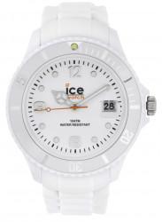 Ice Watch Men's SI.WE.BB.S.11 Sili Collection White Dial White Resin Quartz Watch