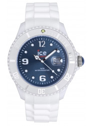 Ice Watch Unisex Ice White Blue Dial Silicone Watch SI.WJ.B.S.10