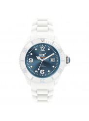 Ice-Watch Unisex Ice White Blue Dial Silicone SI.WJ.U.S.10