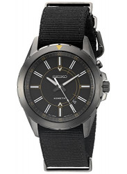 Seiko SKA705 Men's Recraft Kinetic Analog Display Japanese Quartz Black Watch