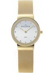 Skagen Women's Silver Dial Gold Tone Mesh Watch 358SGGD