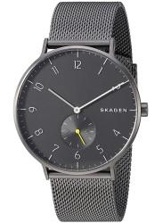 Fossil Men's Aaren Gunmetal Dial Gunmetal Mesh Stainless Steel Watch SKW6470