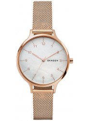Skagen Women's Anita Mother of Pearl Dial Rose Gold Stainless Steel Watch SKW2633