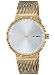 Skagen Women's Annelie Silver Dial Gold Stainless Steel Watch SKW2755