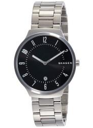 Skagen Men's Grenen Black Dial Stainless Steel Watch SKW6515