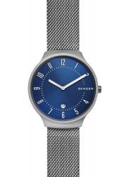 Skagen Men's Grenen Blue Dial Stainless Steel Watch SKW6517