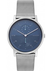Skagen Men's Kristoffer Multifunction Blue Dial Stainless Steel Watch SKW6500