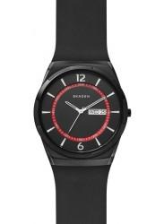 Skagen Men's Melbye Black Dial Black Rubber Watch SKW6506