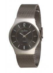 Skagen Men's Titanium Charcoal Dial Watch 233LTTM