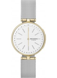 Skagen Women's Signatur Hybrid White Dial Mesh Stainless Steel Smartwatch SKT1413