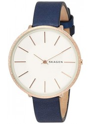 Skagen Women's Karolina White Dial Blue Leather Strap Watch SKW2723.jpg