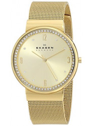 Skagen Women's Ancher Diamond Gold Tone Watch SKW2129
