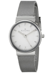 Skagen Women's Ancher Silver Dial Mesh Watch SKW2195