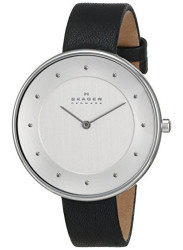 Skagen Women's Gitte Black Leather Watch SKW2232