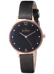Skagen Anita Grey Dial Rose Gold Tone Stainless Steel Watch SKW2267