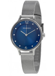 Skagen Women's Anita Blue Dial Mesh Diamond Watch SKW2307