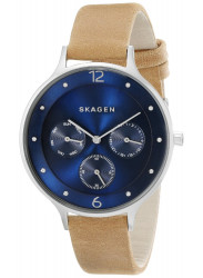 Skagen Women's Anita Blue Dial Brown Leather Watch SKW2310