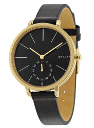 Skagen Women's Hagen Black Leather Watch SKW2354