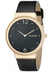 Skagen Women'S Classic Leather Dark Dial Analog Quartz Watch