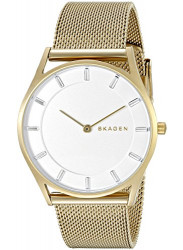 Skagen Women's Holst White Dial Gold-Tone Mesh Watch SKW2377