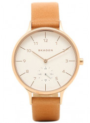 Skagen Women's Anita Brown Leather Watch SKW2405