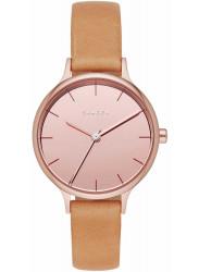Skagen Women's Anita Mirror Pink Dial Brown Leather Watch SKW2412