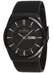 Skagen Men's Aktiv Black Dial Black Mesh Bracelet Watch SKW6006
