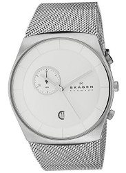 Skagen Men's Havene Silver Dial Mesh Watch SKW6071