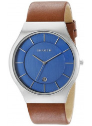 Skagen Men's Grenen Brown Leather Watch SKW6160