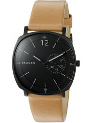 Skagen Men's Rungsted Black Dial Leather Watch SKW6257