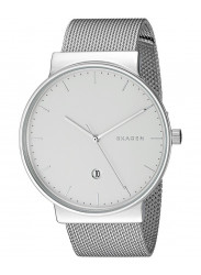 Skagen Men's Ancher White Dial Mesh Watch SKW6290