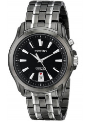 Seiko Men's Black Dial Two Tone Watch SNQ121