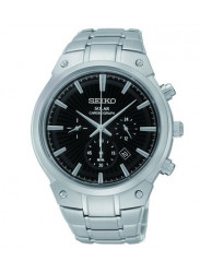 Seiko Men's Core Chronograph Black Dial Watch SSC317
