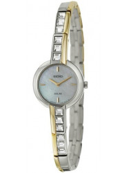 Seiko Women's Solar Mother of Pearl Dial Two Tone Watch SUP192