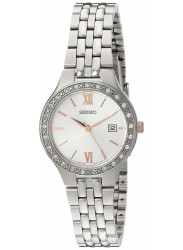 Seiko Women's Silver Tone Stainless Steel Watch SUR759