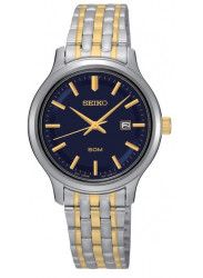 Seiko SUR781 Women's Stainless Two-Tone Bracelet Blue Dial Watch