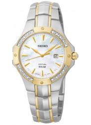 Seiko Women's Solar Two Tone Diamond Watch SUT124