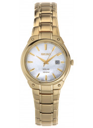 Seiko Women's Mother Of Pearl Dial Gold-Tone Watch SUT130
