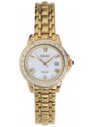 Seiko Women's Solar Gold-Tone Diamond Watch SUT172