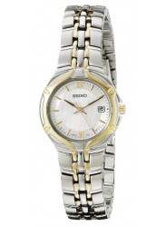 Seiko Women's White Dial Two Tone Watch SXD646
