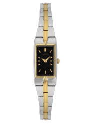Seiko Women's Two Tone Black Dial Watch SZZC42