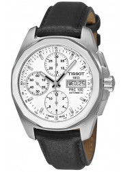 Tissot PRC 100 Quadrato Men's Automatic Chronograph Leather Watch T0084141603100.