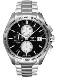 Tissot Men's Automatic Chronograph Black Dial Stainless Steel Watch T024.427.11.051.00
