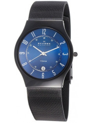 Skagen Men's Blue Dial Titanium Watch T233XLTMN