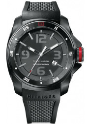 Tommy Hilfiger Men's Black Dial Black Silicone Watch 1790708