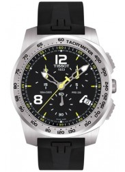 Tissot Men's T-Sport Chronograph Black Dial Black Rubber Watch T036.417.17.057.00