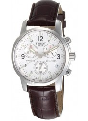 Tissot Men's T-Sport Chronograph White Dial Brown Leather Watch T17.1.516.32