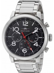 Tommy Hilfiger Men's Jake Chronograph Black Dial Stainless Steel Watch 1791234