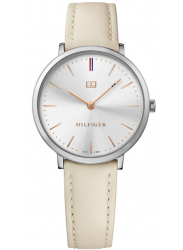 Tommy Hilfiger Women's Ultra Slim Cream Leather Watch 1781691