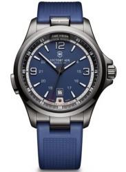 Victorinox Men's Night Vision Blue Dial Blue Rubber Watch 241707